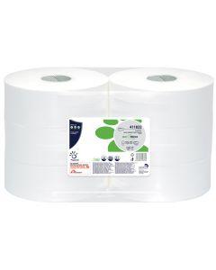 Bio Tech 400m Maxi Jumbo Toilet Roll - 60mm Core White 2 Ply (pure)