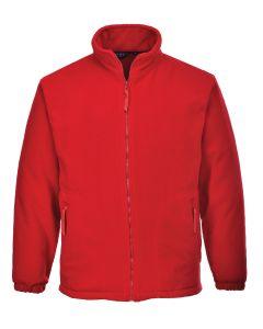 Aran Fleece Jacket, Red M