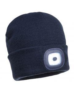 LED Beanie Hat Navy