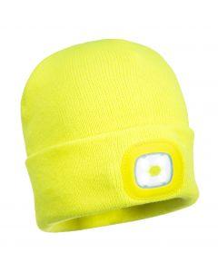 LED Beanie Hat Yellow