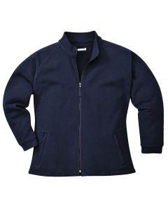 Aran Ladies Fleece Navy Size M