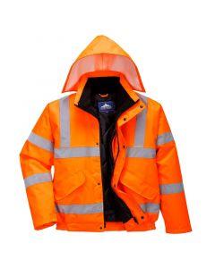 Hi-Vis Bomber Jacket, Orange 5XL