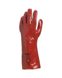 "PVC Gauntlet 35cm/13.8"" Red Size 10.5/XL"