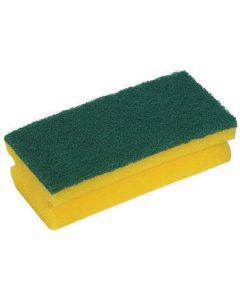 Abrasive Easigrip Sponge Scouring Pad, Yellow/Green